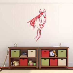 מדבקת קיר בעלי חיים לבני נוער - סוס