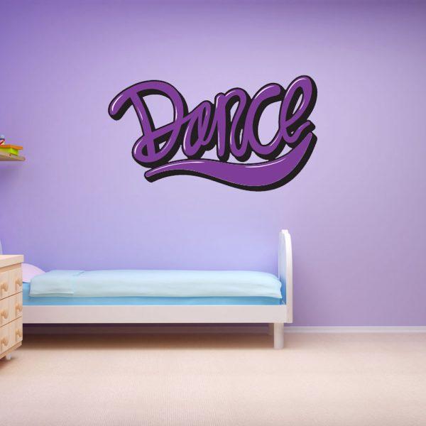 מדבקת קיר המילה Dance (לרקוד)