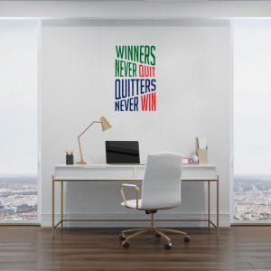 מדבקת קיר צורנית למשרד