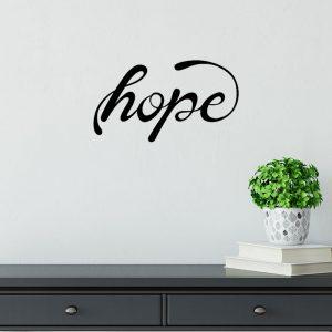 מדבקת קיר המילה hope