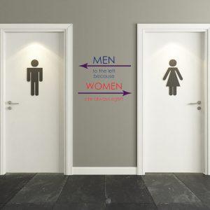 מדבקת קיר צבעונית לשירותים