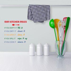 מדבקת קיר מצחיקה למטבח