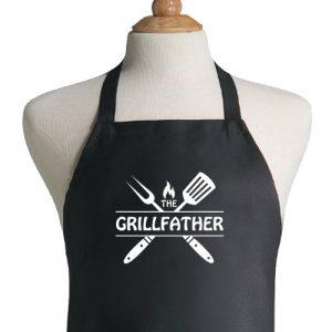 סינר שחור מעוצב the-grillfather