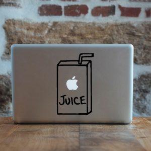 מדבקה למקבוק בעיצוב אישי Apple Juice