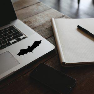 מדבקה על מחשב נייד הסמל של באטמן בעיצוב אישי