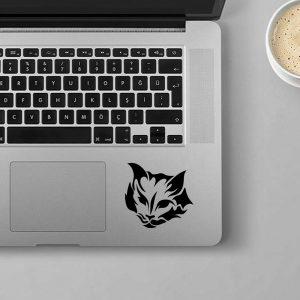 """מדבקה בעיצוב אישי למחשב נייד חתול דגם """"Donald"""""""