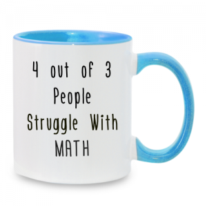 מתנה מצחיקה למורה למתמטיקה - ספל מעוצב