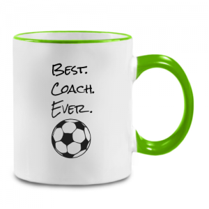 מתנה מקורית למאמן כדורגל - ספל מעוצב עם הקדשה