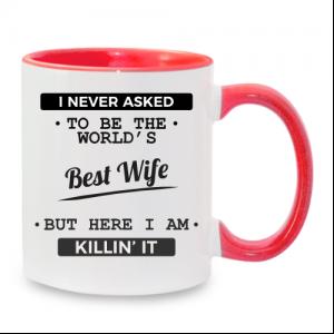 מתנה מתוקה לאישה - כוס עם כיתוב אישי