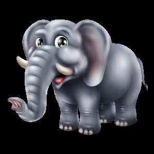 מדבקת קיר ויניל צבעונית של גור פילים חמוד