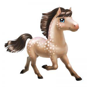 מדבקת קיר בעלי חיים - סוס צעיר