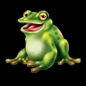 מדבקת קיר ציור של צפרדע ירוקה