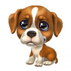 מדבקת קיר גור כלבים מתוק