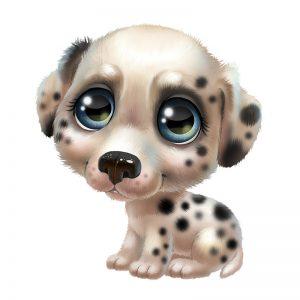 ציור של כלב דלמטי.