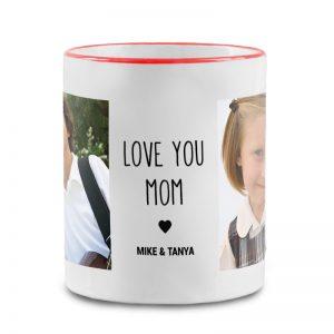 מתנה לאמא מהילדים - ספל מעוצב עם תמונות