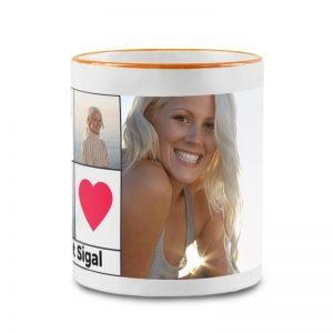 מתנה ליום ההולדת של הדודה - כוס מעוצבת עם תמונות אישיות