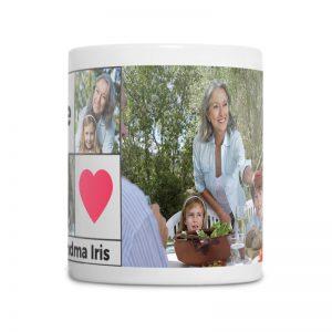 מתנה לסבתא - ספל מעוצב עם 3 תמונות אישיות
