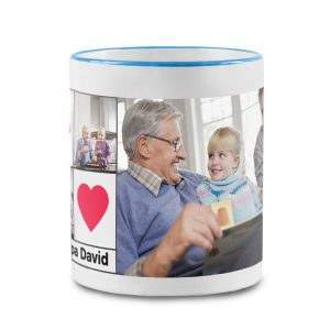 מתנה מיוחדת לסבא - ספל עם תמונות והקדשה אישית