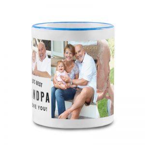 מתנה מרגשת לסבא - ספל קפה עם תמונות והקדשה אישית