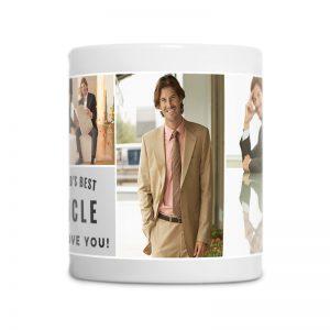 מתנה מרגשת לדוד - ספל קפה עם תמונות והקדשה אישית