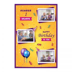 כרטיס ברכה מעוצב ליום הולדת של הסב