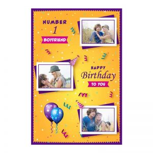 כרטיס ברכה מעוצב ליום הולדת של החבר