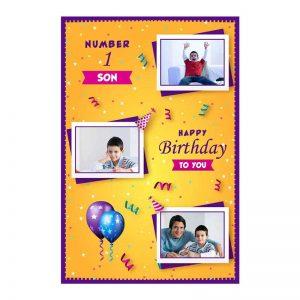 כרטיס ברכה מעוצב ליום הולדת של הבן