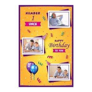כרטיס ברכה מעוצב ליום הולדת של הדוד