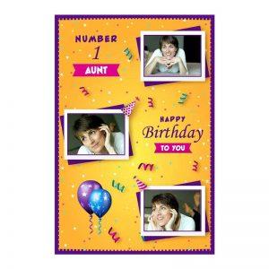 כרטיס ברכה מעוצב ליום הולדת של הדודה