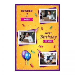 כרטיס ברכה מעוצב ליום הולדת של הבוס