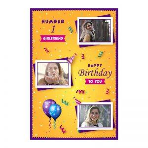 כרטיס ברכה מעוצב ליום הולדת של החברה