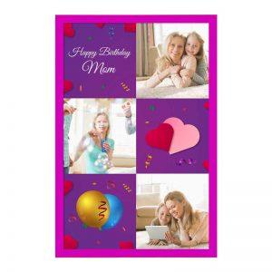 כרטיס ברכה מעוצב ליום הולדת של האם - צד קדמי