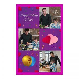 כרטיס ברכה מעוצב ליום הולדת של האב - צד קדמי