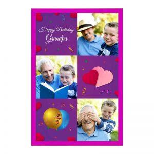 כרטיס ברכה מעוצב ליום הולדת של הסבא - צד קדמי