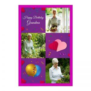 כרטיס ברכה מעוצב ליום הולדת של הסבתא - צד קדמי